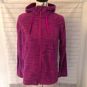 The North Face fuchsia pink fleece jacket coat